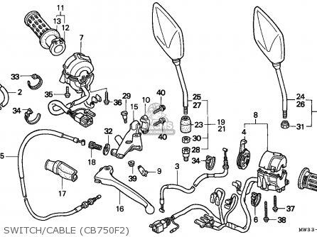 Honda CB750F2 SEVEN FIFTY 1992 (N) ENGLAND / MPH parts