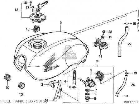 Honda CB750F2 SEVEN FIFTY 1992 (N) EUROPEAN DIRECT SALES