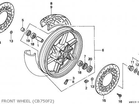 Honda CB750F2 SEVEN FIFTY 1992 (N) FRANCE / KPH parts