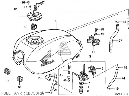 Honda Cb750f2 Seven Fifty 1992 (n) Germany / Kph 27p parts