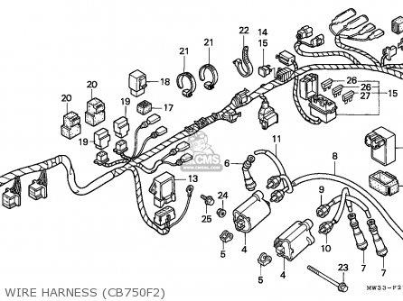 Honda Cb750f2 Seven Fifty 1995 (s) Germany / Kph 27p parts