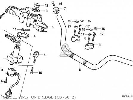 Honda Cb750f2 Seven Fifty 1996 (t) Austria / Kph parts