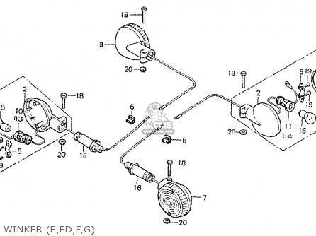 Honda CB750F2 SUPER SPORT ENGLAND parts lists and schematics