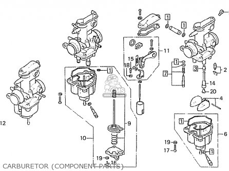 Honda Cb750f2 Super Sport Germany parts list partsmanual