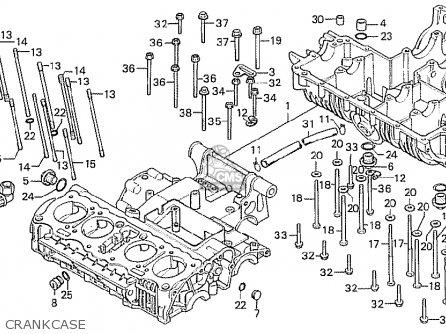 Honda Cb750f2 Super Sport Germany parts list partsmanual