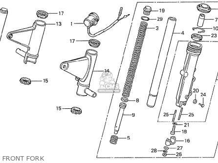 Honda CB750F2 SUPER SPORT GERMANY parts lists and schematics