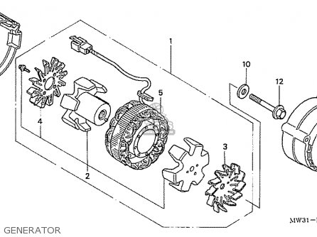 Honda Cb750fii Tii Rc42 Japanese Domestic parts list