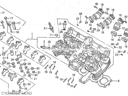 Honda Cb750k 1979 (z) Four General Export Kph parts list