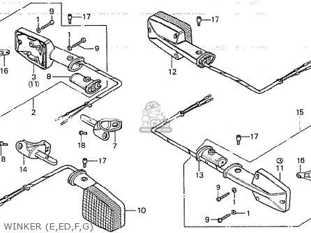 Honda CB750K 1979 (Z) FOUR GERMANY parts lists and schematics