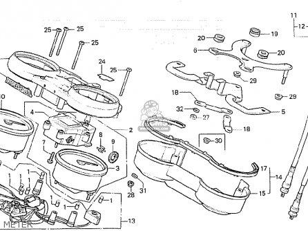 Honda CB750K 1980 (A) FOUR AUSTRALIA parts lists and
