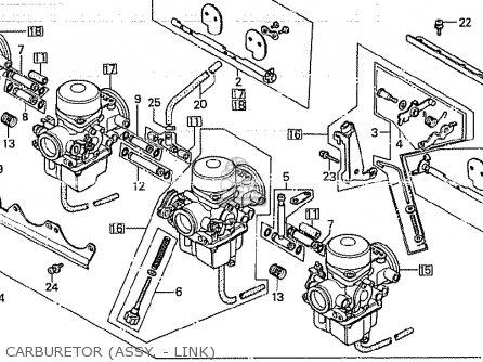 Honda CB750K 1980 (A) FOUR CANADA parts lists and schematics