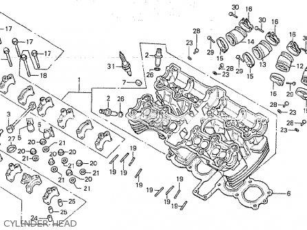 Honda CB750K 1980 (A) FOUR ENGLAND parts lists and schematics