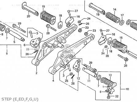 Honda CB750K 1980 (A) FOUR FRANCE parts lists and schematics