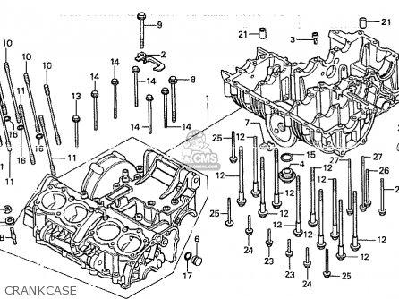 Honda Cb750k 1980 (a) Four Ireland Police parts list