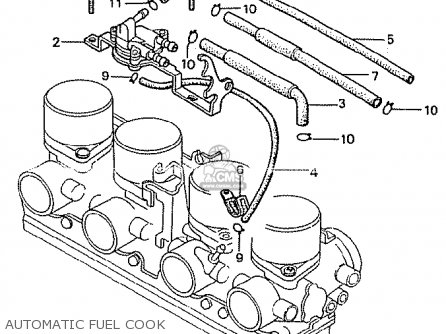 Honda CB750K 1981 (B) FOUR CANADA parts lists and schematics