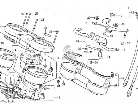 Honda CB750K 1981 (B) FOUR ENGLAND parts lists and schematics