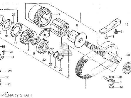Honda CB750K 1981 (B) FOUR EUROPEAN DIRECT SALES parts