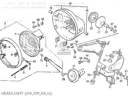 Honda CB750K 1981 (B) FOUR GENERAL EXPORT KPH parts lists