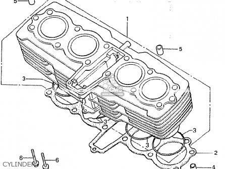 Honda Cb750k 1981 (b) Four Germany parts list partsmanual