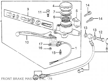 Honda Cb750k 750 Four K 1978 Usa parts list partsmanual