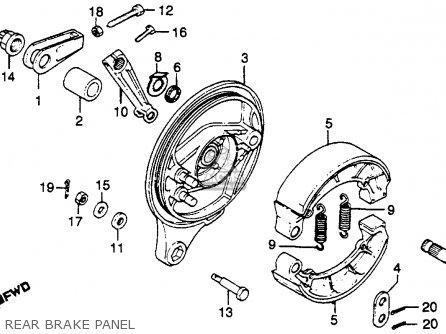 Honda Cb750k 750 Four K 1980 (a) Usa parts list