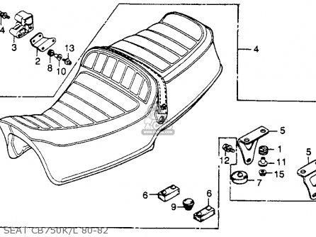 Honda CB750K 750 FOUR K 1980 (A) USA parts lists and
