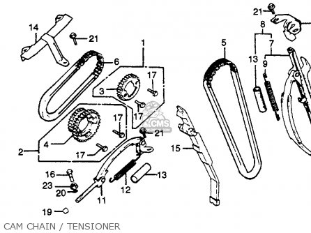 Honda Cb750k 750 Four K 1980 Usa parts list partsmanual