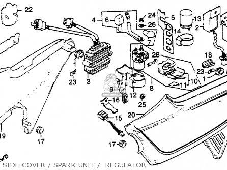 Honda Cb750k 750 Four K 1981 (b) Usa parts list