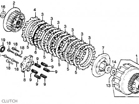 Honda Cb750k 750 Four K 1981 Usa parts list partsmanual