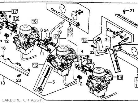 Honda CB750K 750 FOUR K 1982 (C) USA parts lists and