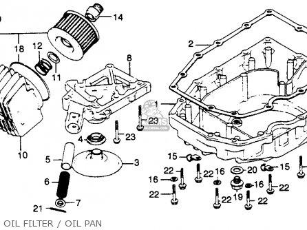 Honda Cb750k 750 Four K 1982 (c) Usa parts list