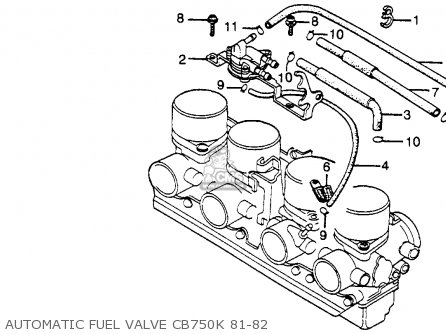 Honda Cb750k 750 Four K 1982 Usa parts list partsmanual