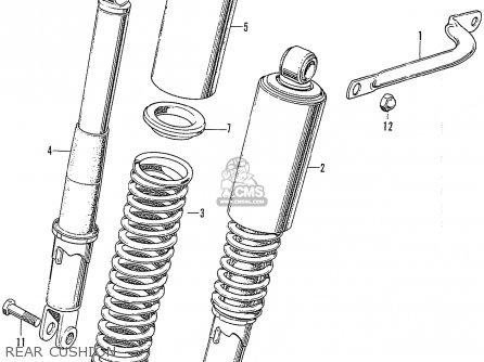 Honda CB750K0 FOUR ENGLAND parts lists and schematics