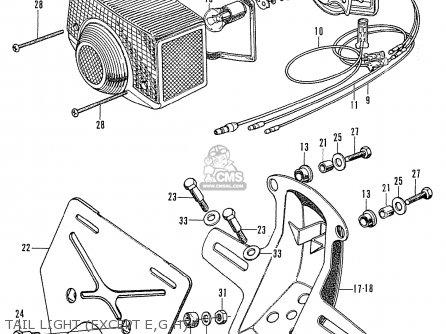 Honda CB750K0 FOUR EUROPEAN DIRECT SALES parts lists and