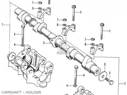 Honda CB750K0 FOUR NETHERLANDS parts lists and schematics