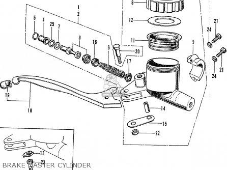 Honda Cb750k1 Four 1970 1971 Usa parts list partsmanual