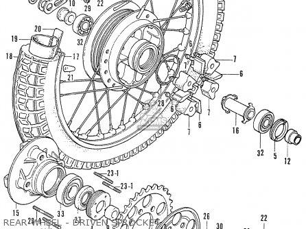 Honda CB750K1 FOUR 1970 1971 USA parts lists and schematics
