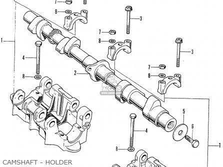 Honda Cb750k2 Four 1972 Usa parts list partsmanual partsfiche