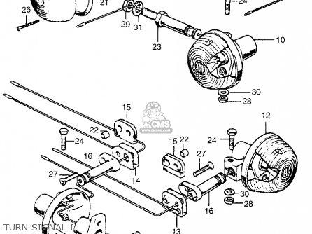 Honda CB750K3 FOUR 1973 USA parts lists and schematics