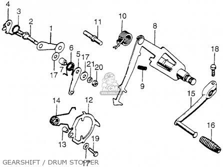 Honda CB750K4 FOUR 1974 USA parts lists and schematics