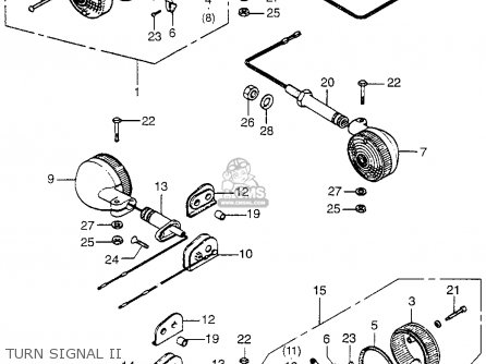 Honda CB750K5 FOUR 1975 USA parts lists and schematics