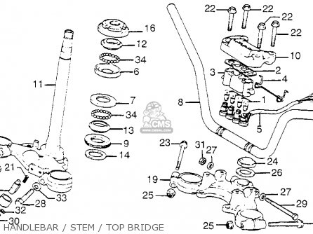 Honda CB750K6 FOUR 1976 USA parts lists and schematics