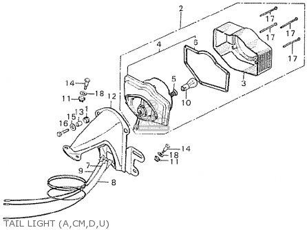 Honda Cb750k6 Four Australia parts list partsmanual partsfiche