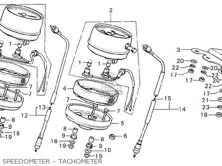 Honda Cb750k6 Four England parts list partsmanual partsfiche