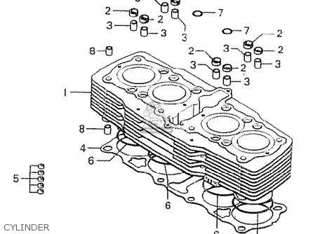 Honda Cb750k6 Four General Export Kph Mph parts list