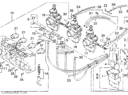 Honda Cb750k6 Four Usa parts list partsmanual partsfiche