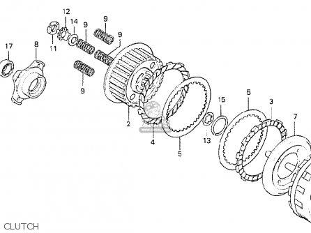 Honda Cb750k6 Four Usa parts list partsmanual partsfiche