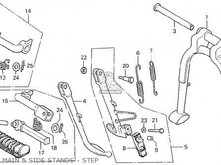 Honda CB750K6 FOUR USA parts lists and schematics