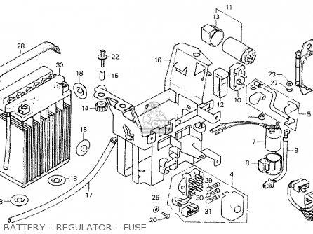 Honda CB750K7 FOUR AUSTRALIA parts lists and schematics