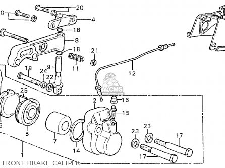 Honda CB750K7 FOUR ENGLAND parts lists and schematics